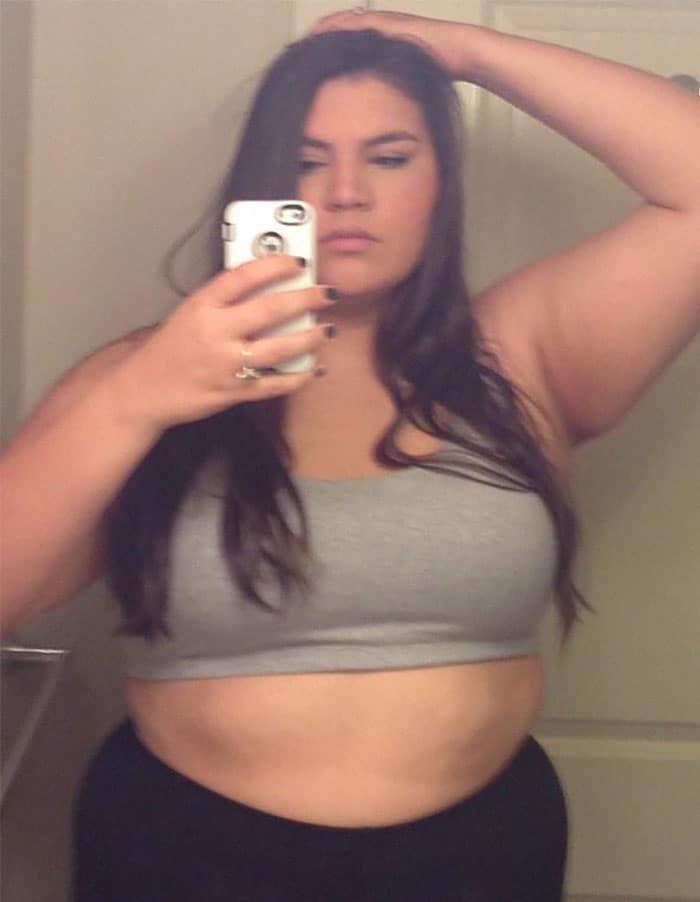 22χρονη που ζύγιζε 137 κιλά αποκάλυψε τι αλλαγή έκαναν 3 χρόνια γυμναστικής στο σώμα της - Εικόνα 3